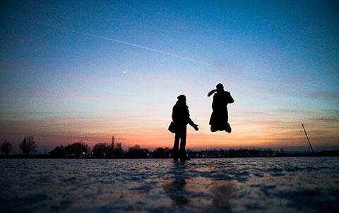neusiedlersee eingefroren
